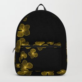 Golden Yellow Flower Border Backpack