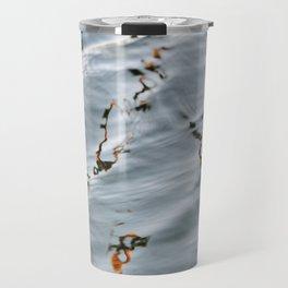 Marble Pattern Orange Water Ripples Travel Mug