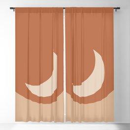 Moonrise Minimalism - Orange Blackout Curtain