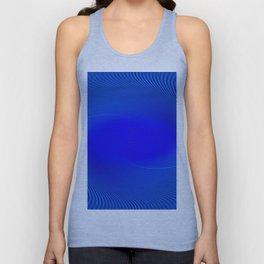 Electric Blue Swirl Unisex Tank Top