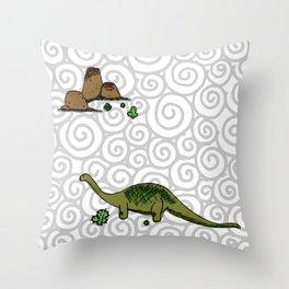 dino saurus Throw Pillow