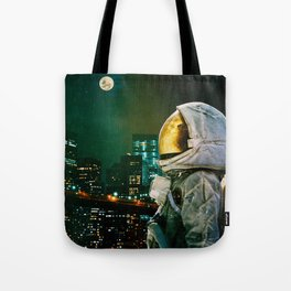Between The Moon And The City Tote Bag
