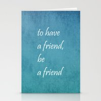 friendship Stationery Cards featuring Friendship by Lyle Hatch