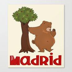 MADRID: Bear and Madrono (v.2) Canvas Print