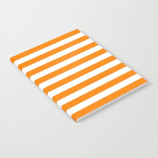 Horizontal Stripes (Orange/White) Notebook