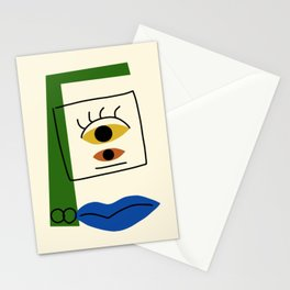 Abstract cubism portrait Stationery Cards