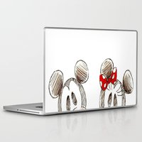 minnie mouse Laptop & iPad Skins featuring Mickey and Minnie Mouse.  by Christa Morgan ☽
