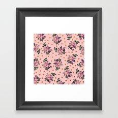 Pink Roses on Pink Framed Art Print