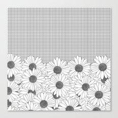 Daisy Grid Canvas Print
