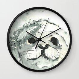 White Seal Wall Clock