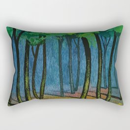 Sunset light in the forest Rectangular Pillow