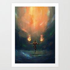 Firebender Art Print