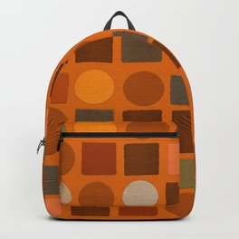 """""""Warm spots & squares (pattern)"""" Backpack"""
