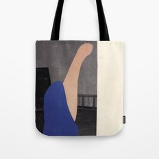 Pink and blue creature Tote Bag