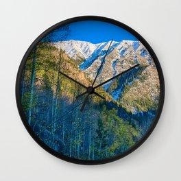 Mountain Path // Rocky Mountains Colorado Landscape Photography Amazing Shots at Sunrise Wall Clock