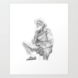 man with a hat Art Print
