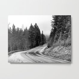Snowy Mountain Pass Metal Print