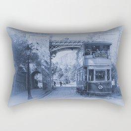 Tram 40 in blue Rectangular Pillow