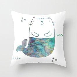 MerKitty Ocean Seashell Throw Pillow