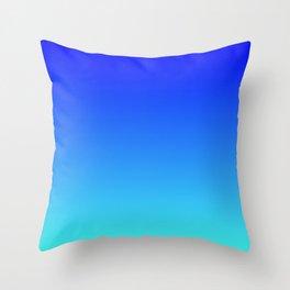 Caribbean Water Gradient Throw Pillow