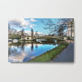 Reading Bridge Metal Print