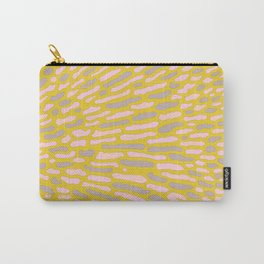 Organic Abstract Yellow Lime Carry-All Pouch