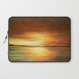 morning coffee and salt air Laptop Sleeve