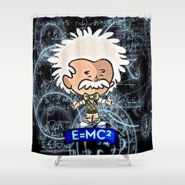 Tiny Einstein Shower Curtain