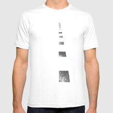 Minimalist Shadows White Mens Fitted Tee MEDIUM