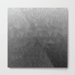 Black and Grey Ombre - Flipped Metal Print