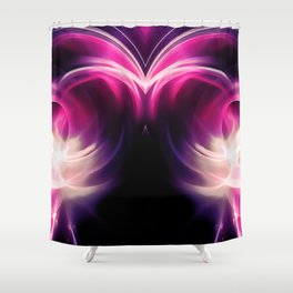 abstract fractals mirrored reacmag Shower Curtain