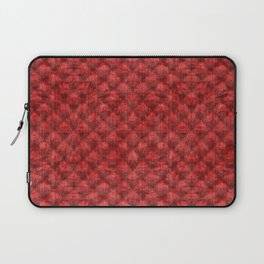 Quilted Bright Red Velvety Design Laptop Sleeve