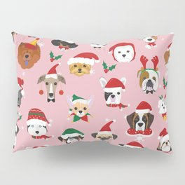Christmas Dog Pattern Illustration Pillow Sham