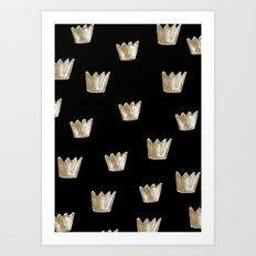 Crown Pattern Art Print