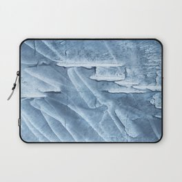 Light steel blue colored wash drawing texture Laptop Sleeve