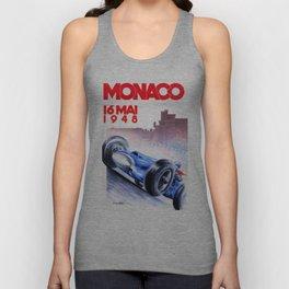 1948 Monaco Grand Prix Race Poster  Unisex Tank Top