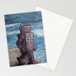 Robot Dream Stationery Cards