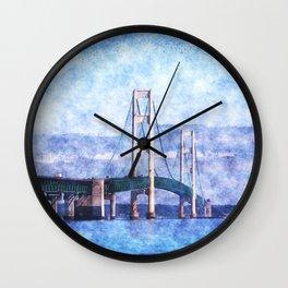 The Mackinac Bridge Wall Clock