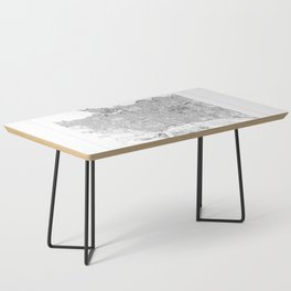 Vancouver Map 2 Coffee Table