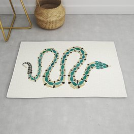 Emerald & Gold Serpent Rug