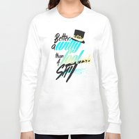 shakespeare Long Sleeve T-shirts featuring Shakespeare quote by feat.ciren