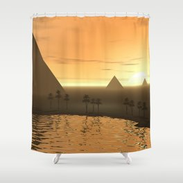 The Giza Necropolis Shower Curtain
