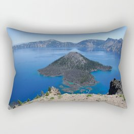 Crater Lake Volcanic Crater Oregon USA Rectangular Pillow