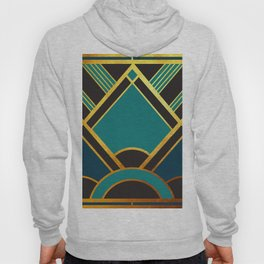 Art Deco New Tomorrow In Turquoise Hoody