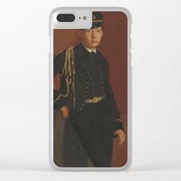 Edgar Degas - Achille De Gas in the Uniform of a cadet Clear iPhone Case