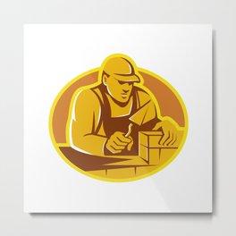 mason brick layer construction worker Metal Print