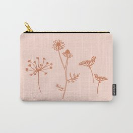 Wildflower Line Art Carry-All Pouch