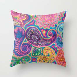 Goniochromism Throw Pillow