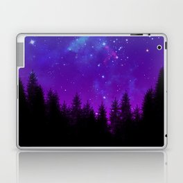 Galaxy Over the Forest at Night Laptop & iPad Skin
