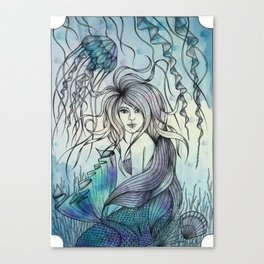 Watercolor Mermaid Canvas Print